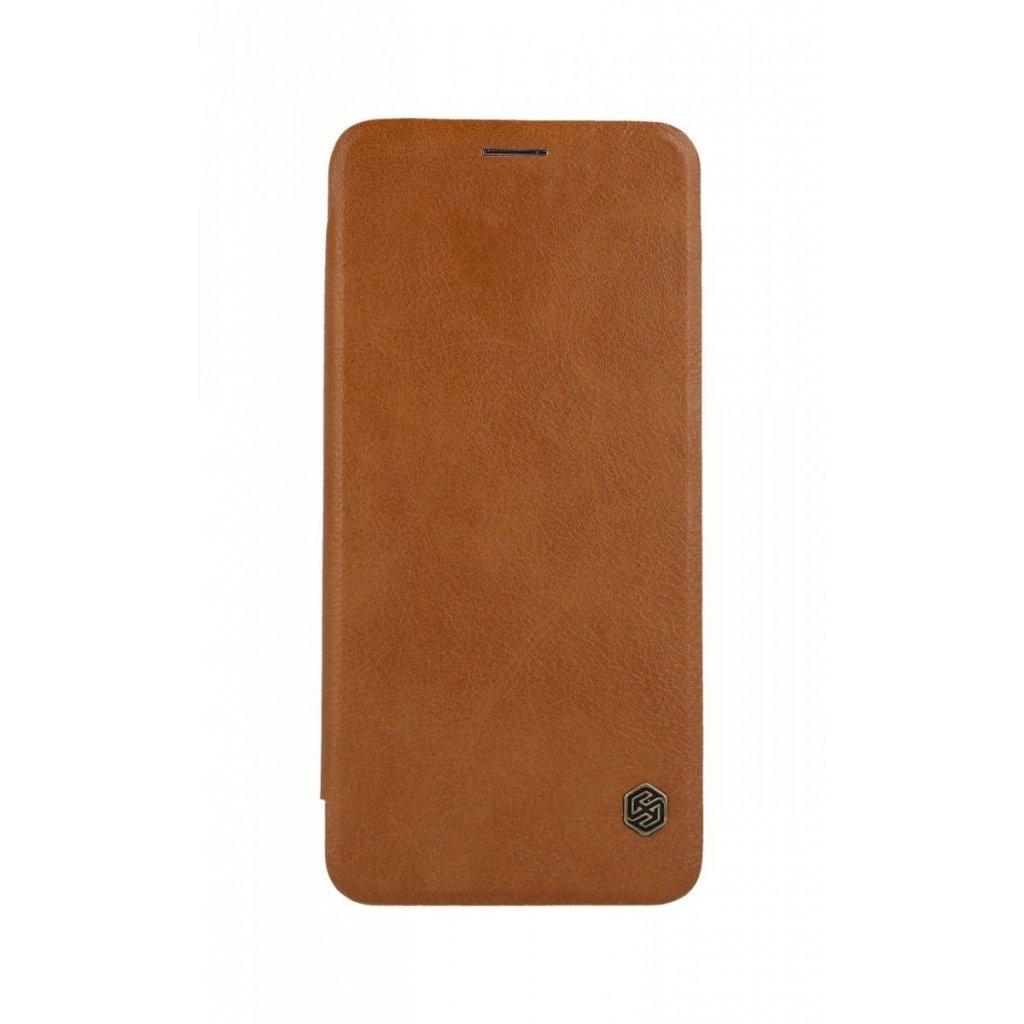 Flipové puzdro Nillkin Qin na Samsung A9 kožené hnedé