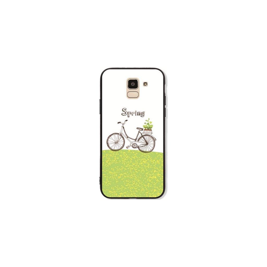 Zadný pevný kryt GLASS na Samsung J6 Bicycle