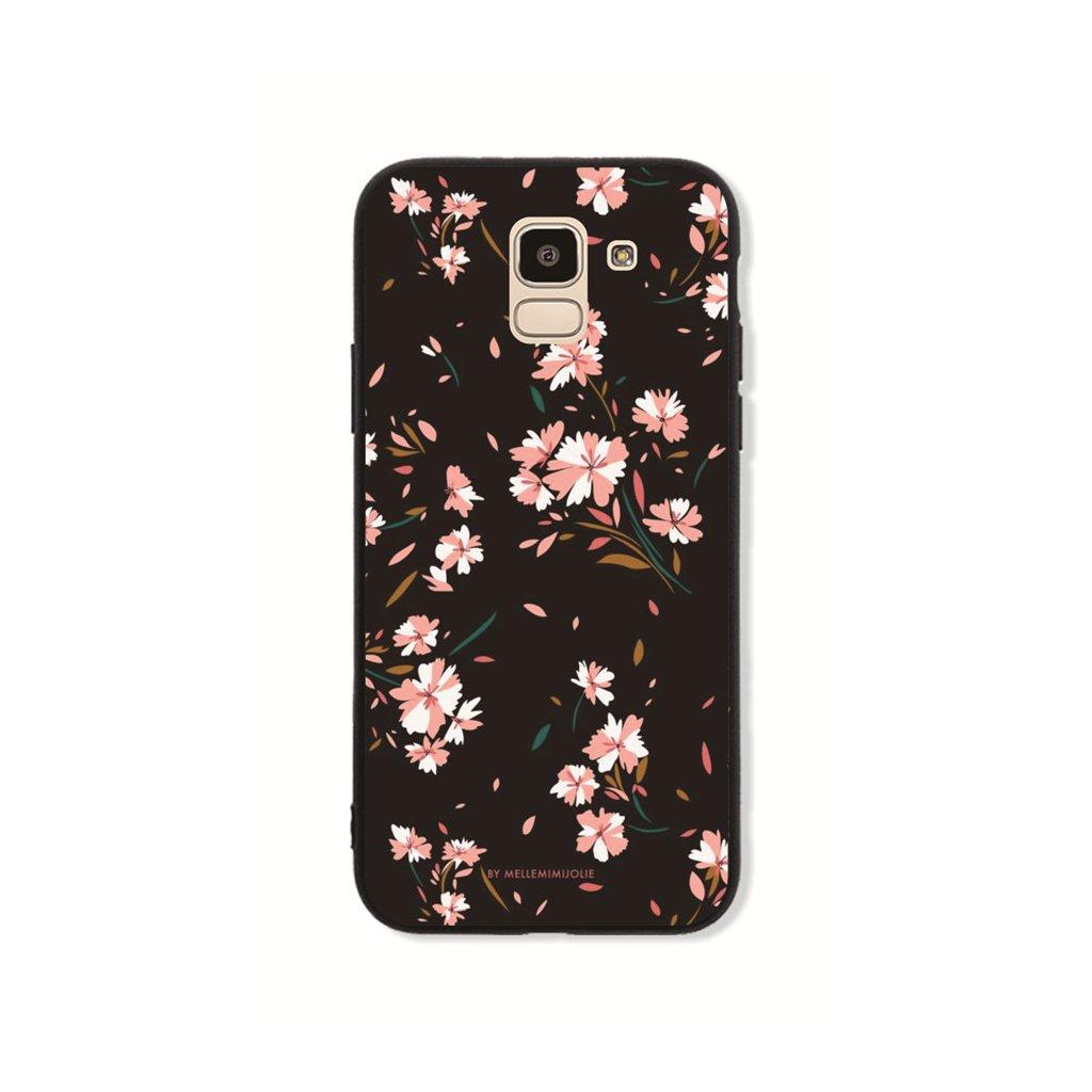 Zadný pevný kryt GLASS na Samsung J6 Cherry Blossom