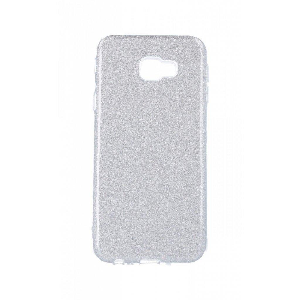 Zadný silikónový kryt na Samsung J4 + glitter strieborný