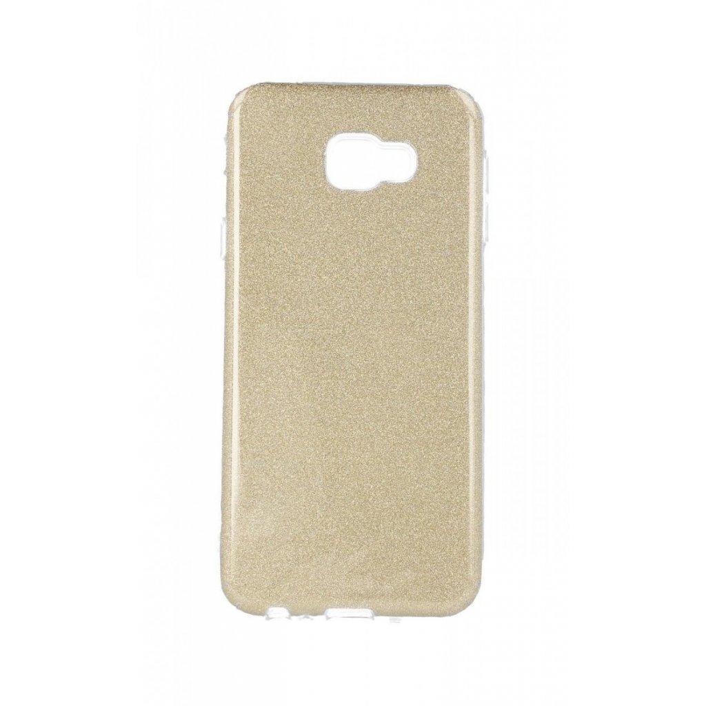 Zadný silikónový kryt na Samsung J4 + glitter zlatý
