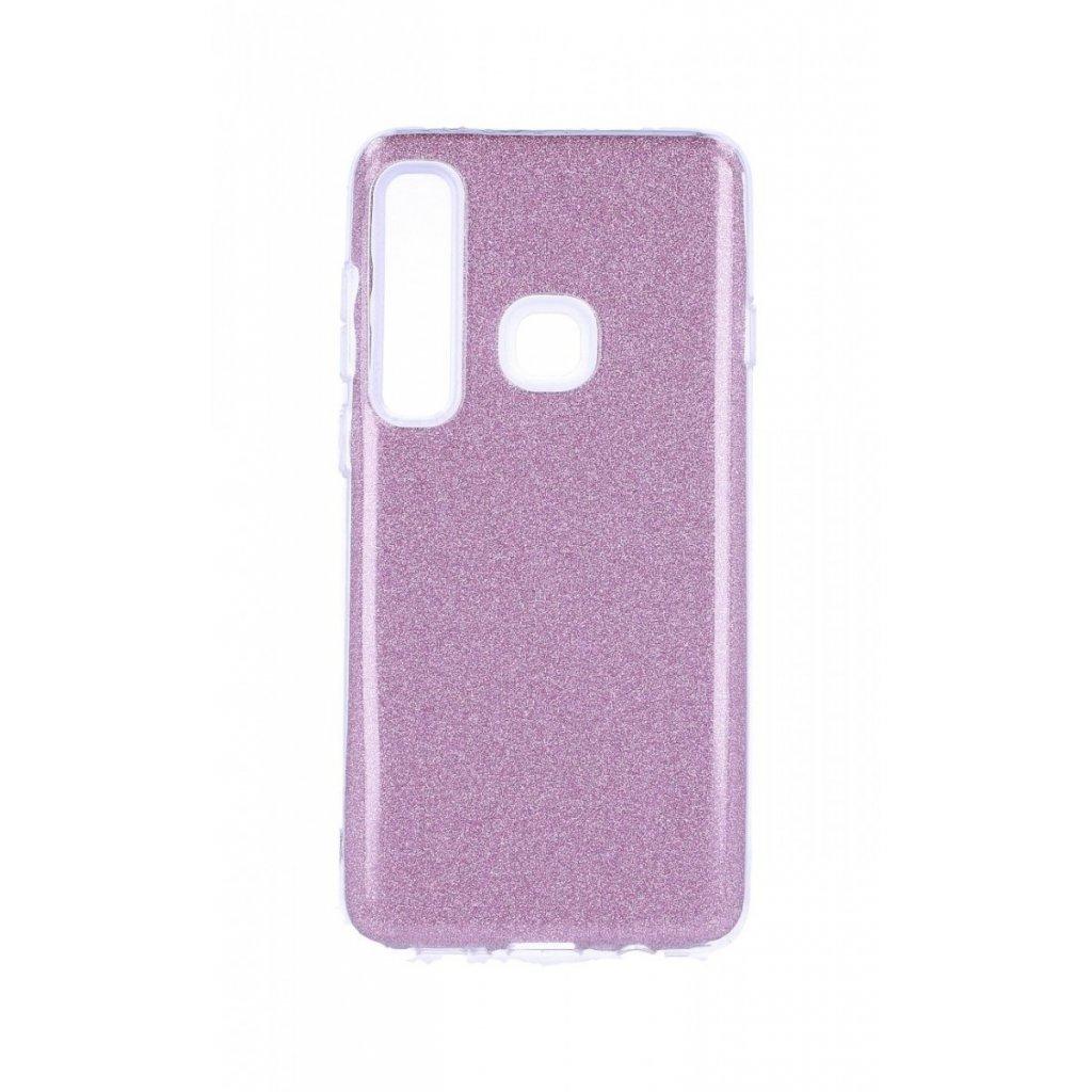 Zadný silikónový kryt na Samsung A9 glitter ružový