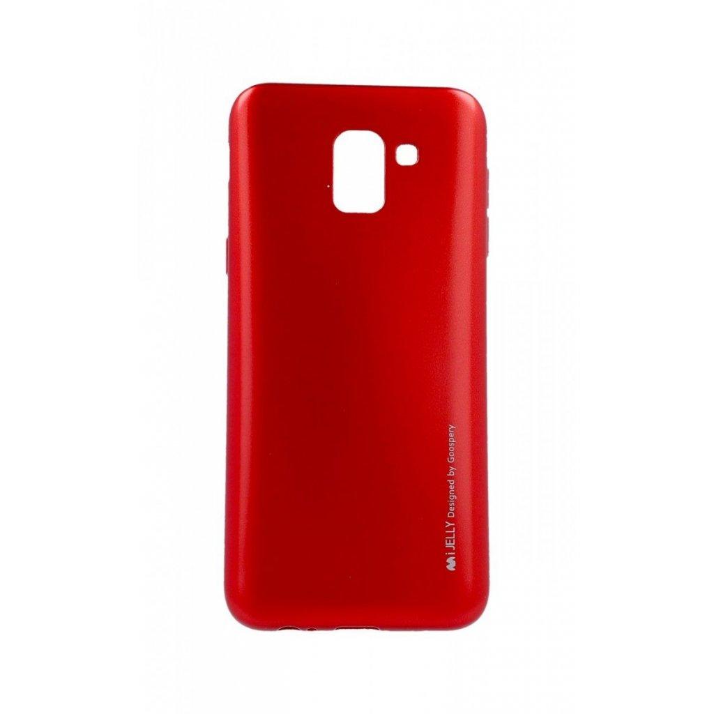 Zadný kryt Mercury iJelly Metal na Samsung J6 červený