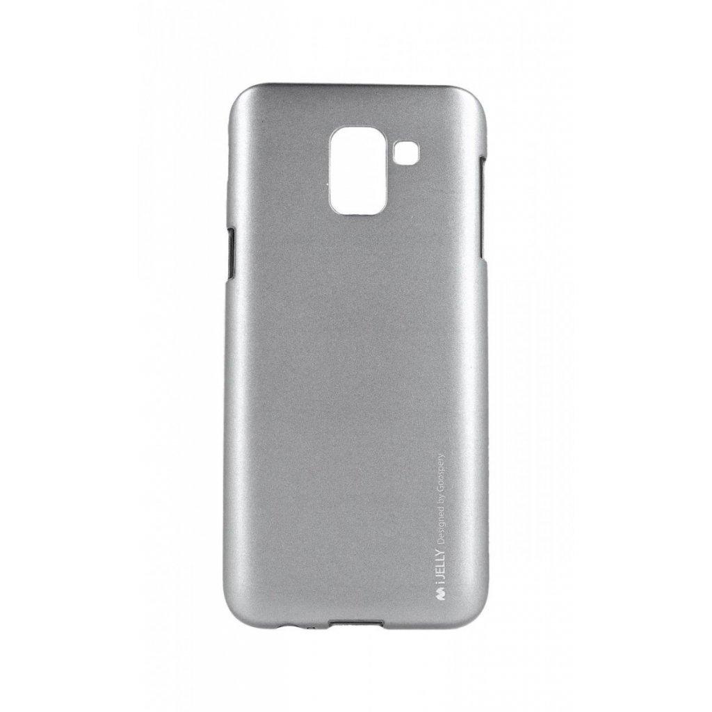 Zadný kryt Mercury iJelly Metal na Samsung J6 šedý