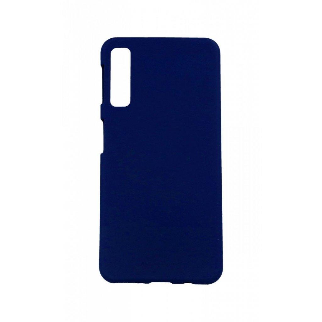 Zadný silikónový kryt Mercury Soft Case na Samsung A7 modrý