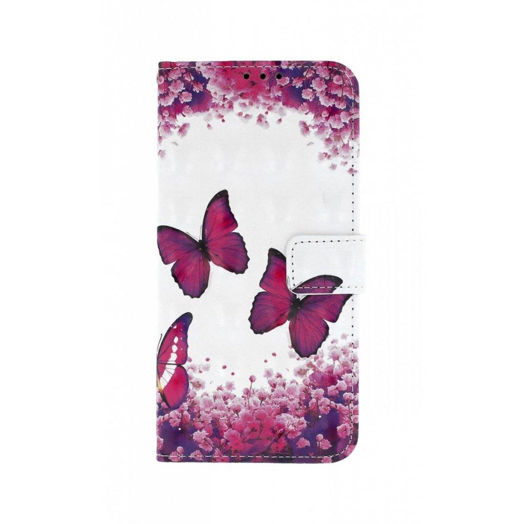 Flipové puzdro na Samsung J4 + Motýlci lesklé