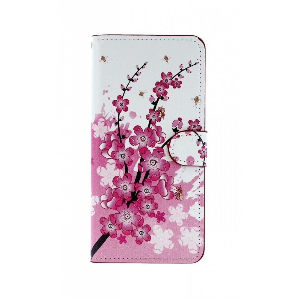 Flipové puzdro na Samsung J4 + Kvety