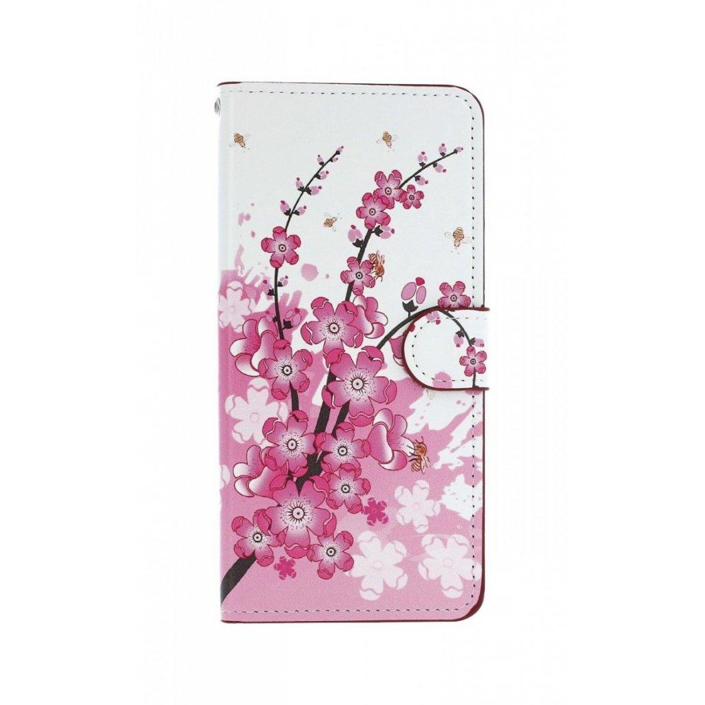Flipové puzdro na Samsung J6 + Kvety