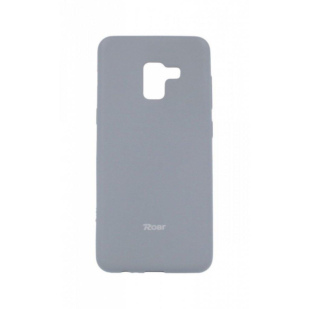 Zadný silikónový kryt Roar na Samsung A8 2018 sivý