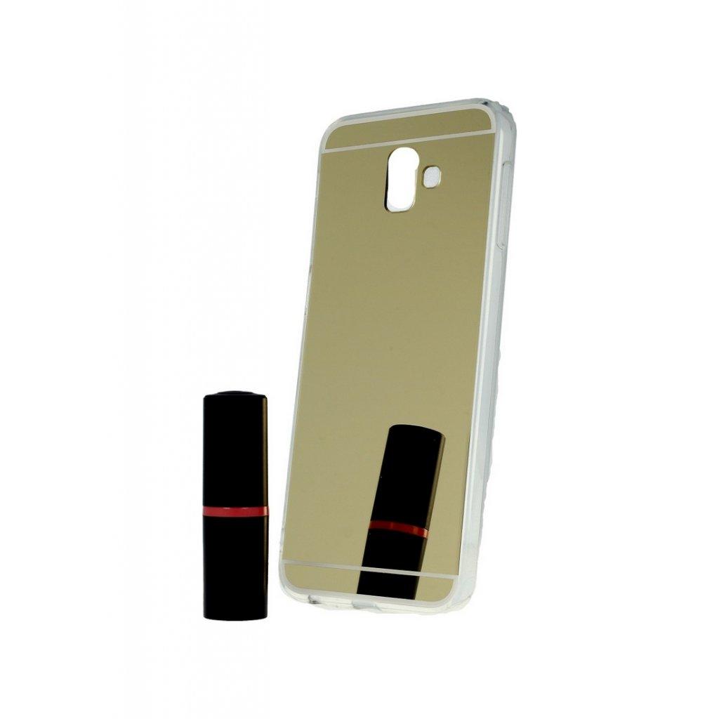 Zadný zrkadlový kryt na Samsung J6 + silikón zlatý