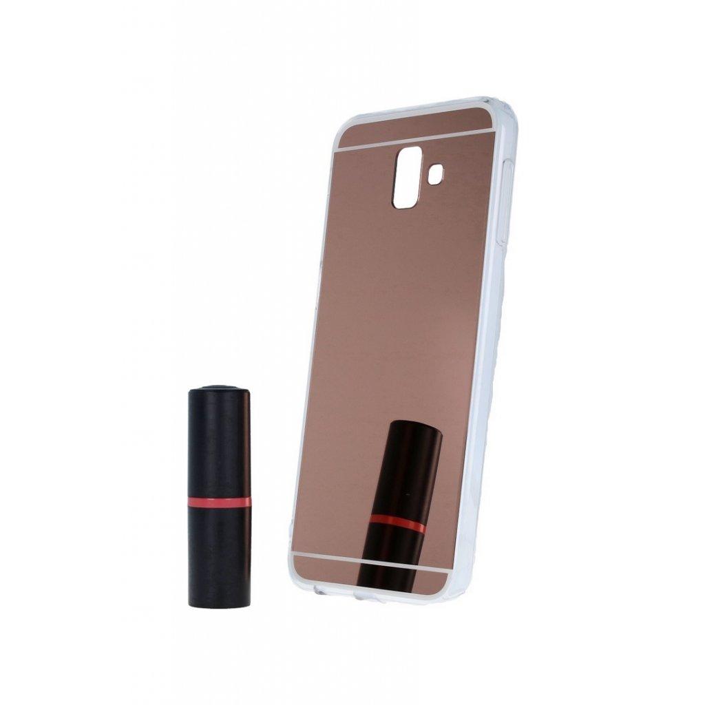 Zadný zrkadlový kryt na Samsung J6 + silikón ružový