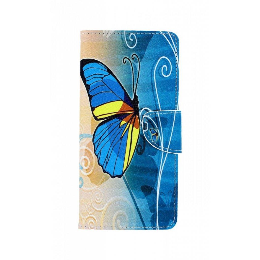 Flipové puzdro na Samsung J4 + Modrý motýlik