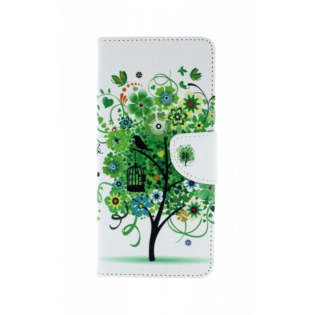 Flipové puzdro na Samsung J6 + Biele so stromom