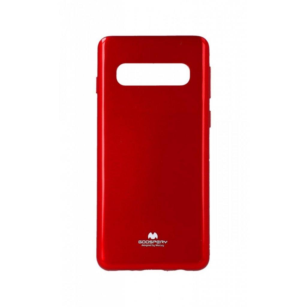 Zadný silikónový kryt Mercury Jelly Case na Samsung S10 + červený