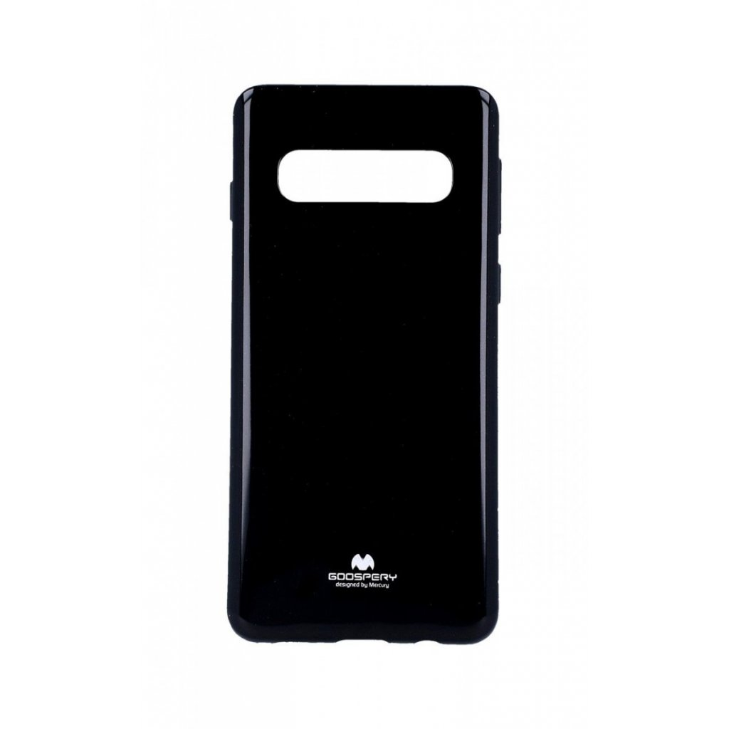 Zadný silikónový kryt Mercury Jelly Case na Samsung S10 + čierny
