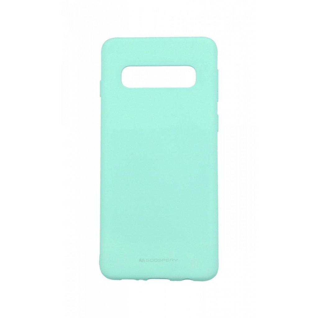 Zadný silikónový kryt Mercury Soft Case na Samsung S10 + mentolový