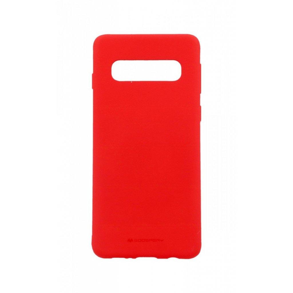 Zadný silikónový kryt Mercury Soft Case na Samsung S10 červený