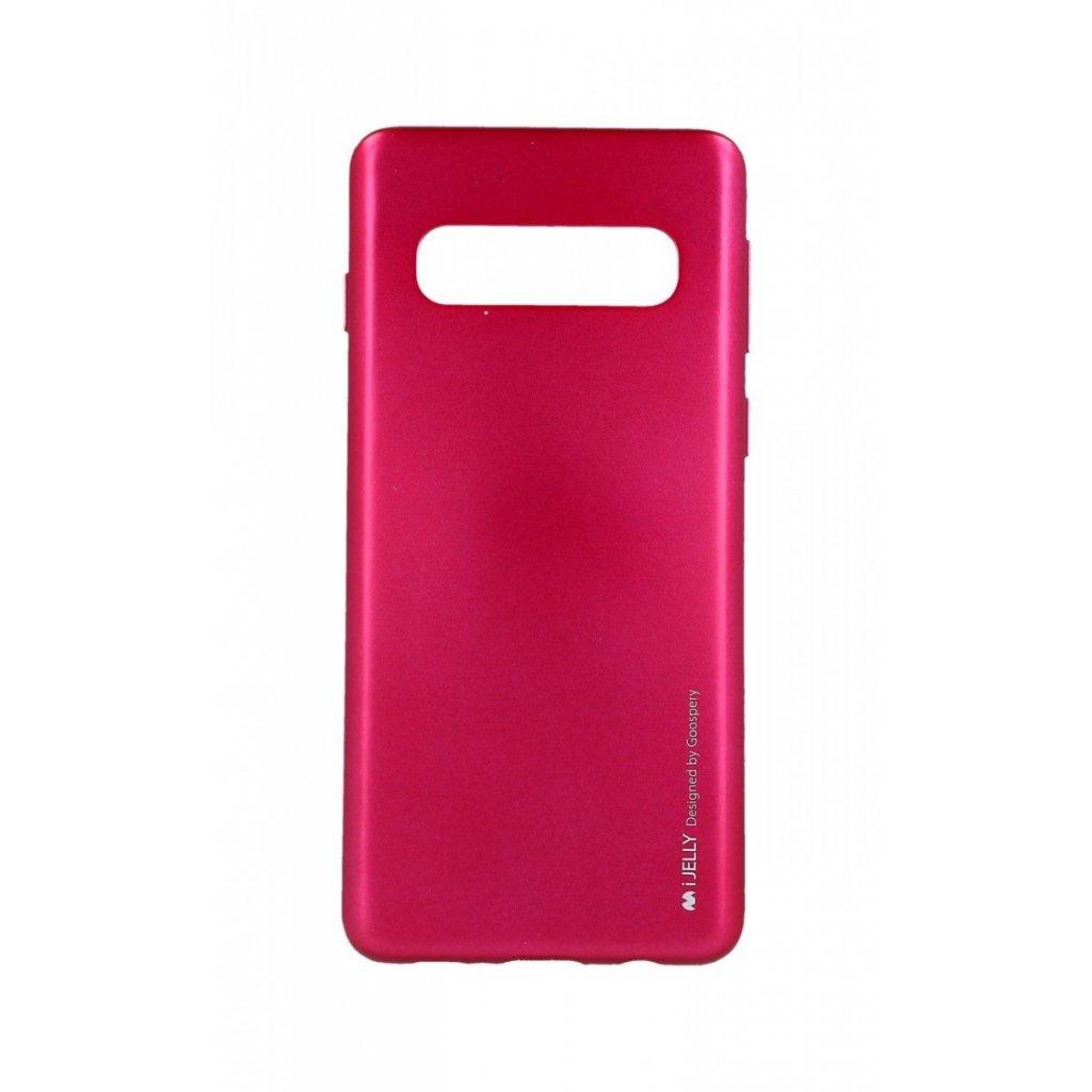 Zadný kryt Mercury iJelly Metal na Samsung S10 ružový tmavý
