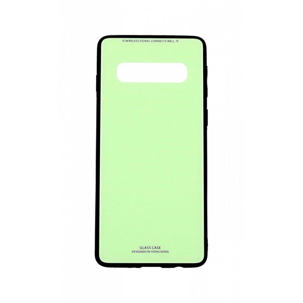 Zadný pevný kryt LUXURY na Samsung S10 zelený
