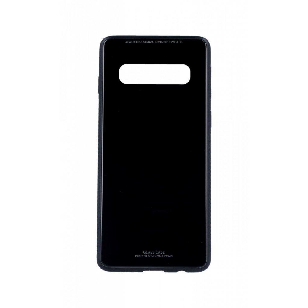 Zadný pevný kryt LUXURY na Samsung S10 čierny