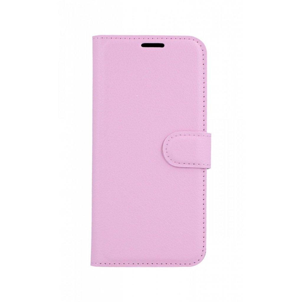 Flipové puzdro na Samsung A6 svetlo ružové s prackou