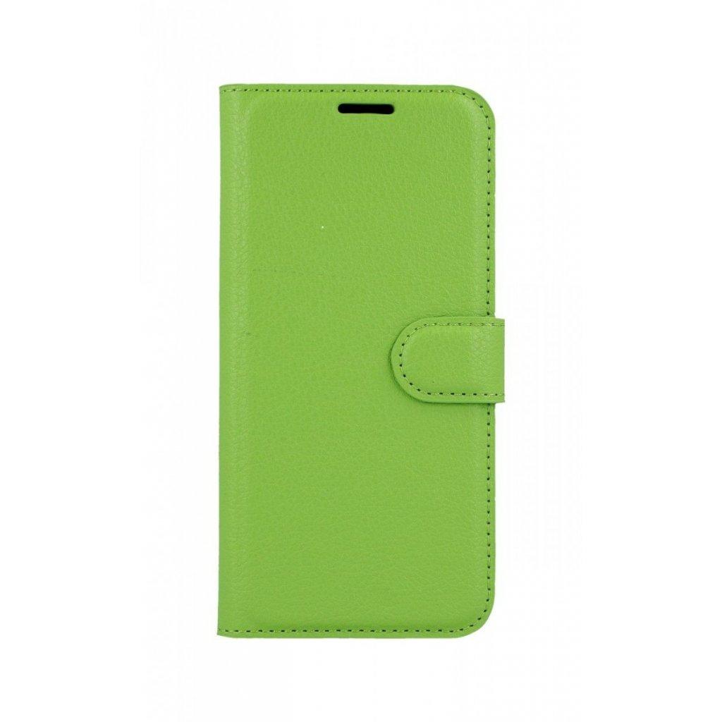 Flipové puzdro na Samsung A6 zelené s prackou