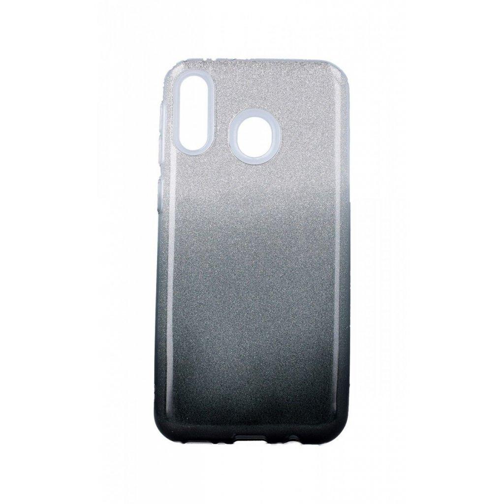 Zadný pevný kryt na Samsung M20 glitter strieborno-čierny