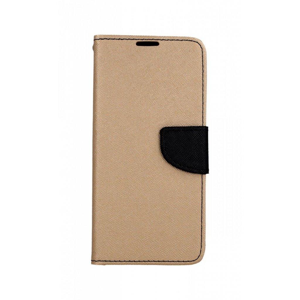 Flipové puzdro na Samsung A9 zlato-čierne