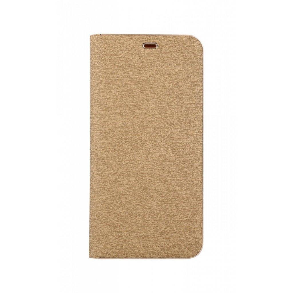 Flipové puzdro Luna Book na Samsung A9 zlaté