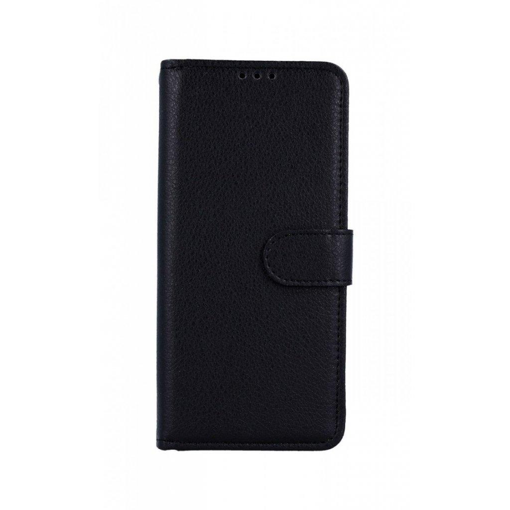 Flipové puzdro na Samsung A50 čierne s prackou