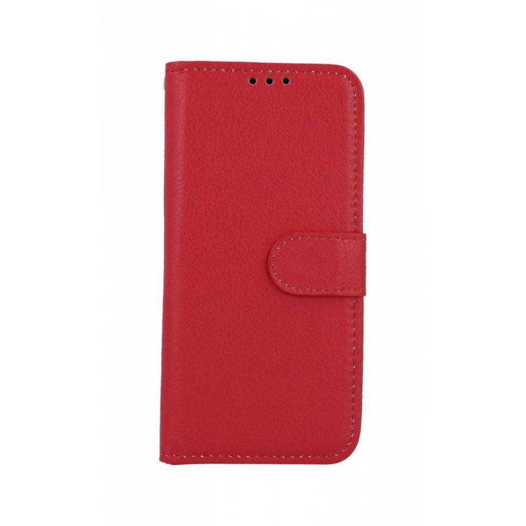 Flipové puzdro na Samsung M20 červenej s prackou