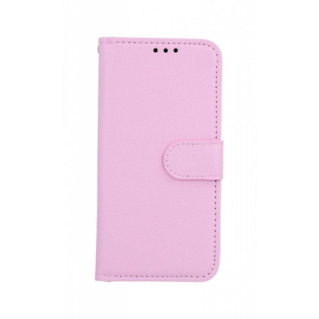 Flipové puzdro na Samsung M20 svetlo ružové s prackou