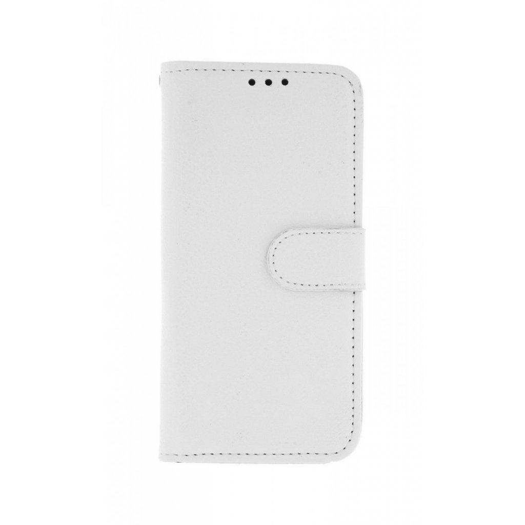 Flipové puzdro na Samsung A40 biele s prackou