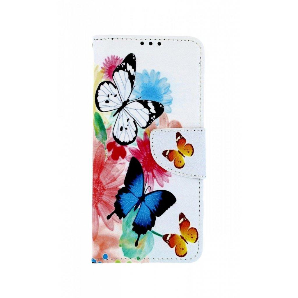 Flipové puzdro na Samsung A50 Farebné s motýlikmi