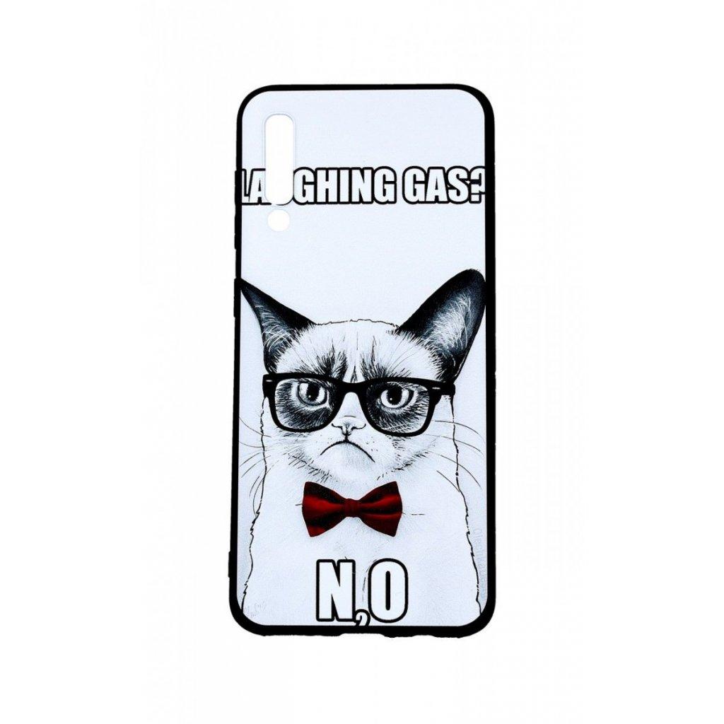 Zadný 3D silikónový kryt na Samsung A50 Grumpy Cat