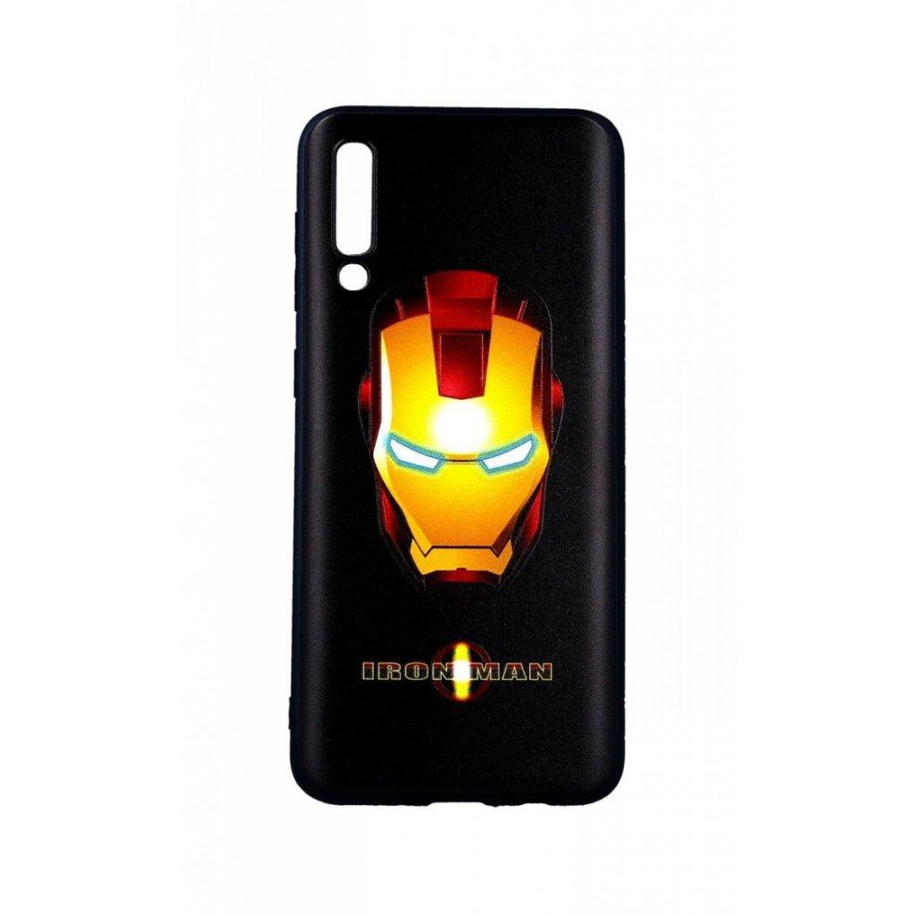 Zadný 3D silikónový kryt na Samsung A50 Iron Man