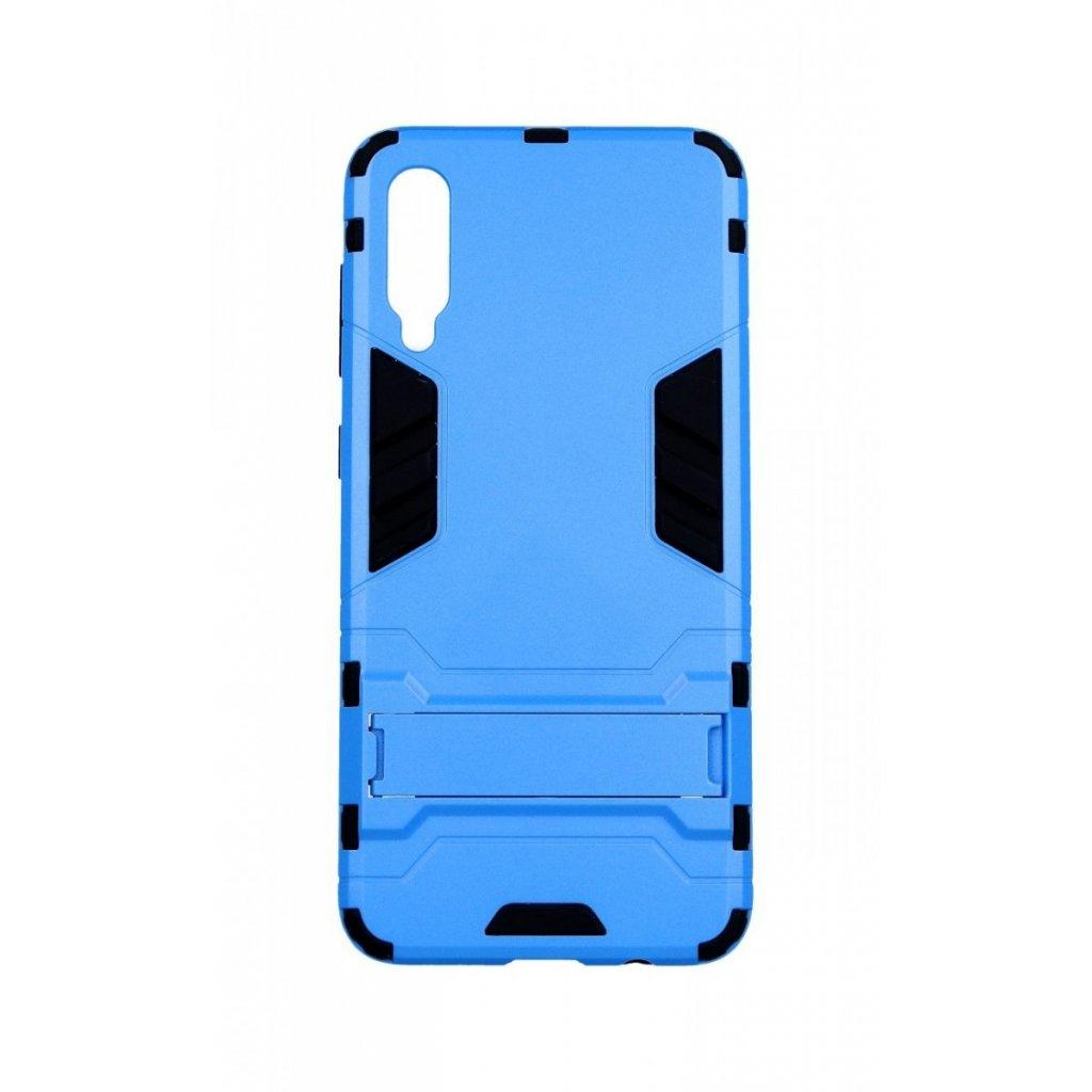 Ultra odolný zadný kryt na Samsung A50 so stojanom modrý