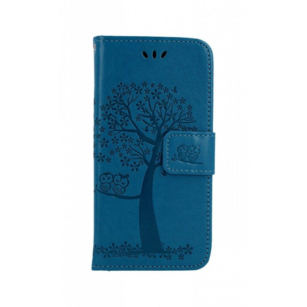 Flipové puzdro na Samsung A40 Modrý strom sovičky