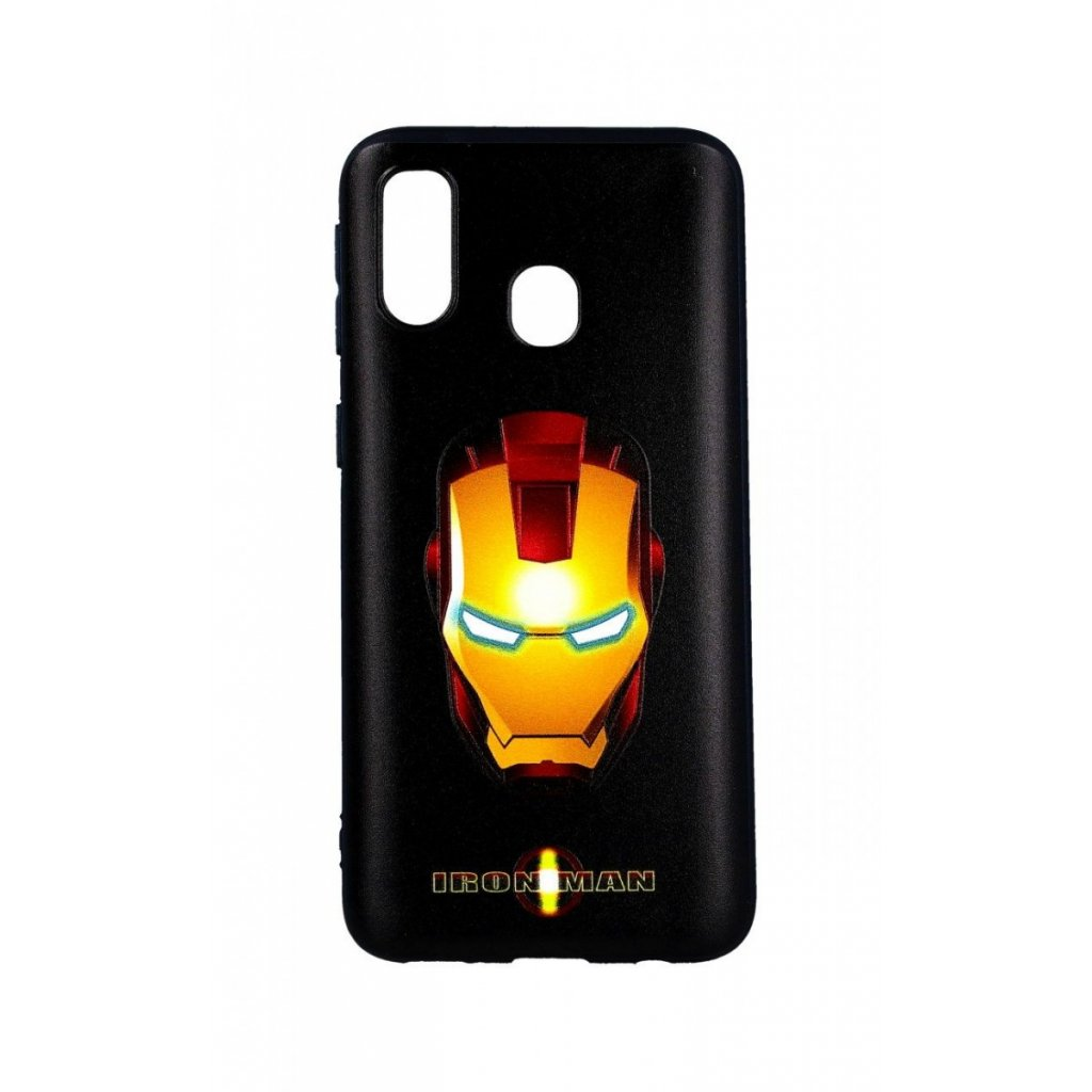 Zadný 3D silikónový kryt na Samsung A40 Iron Man