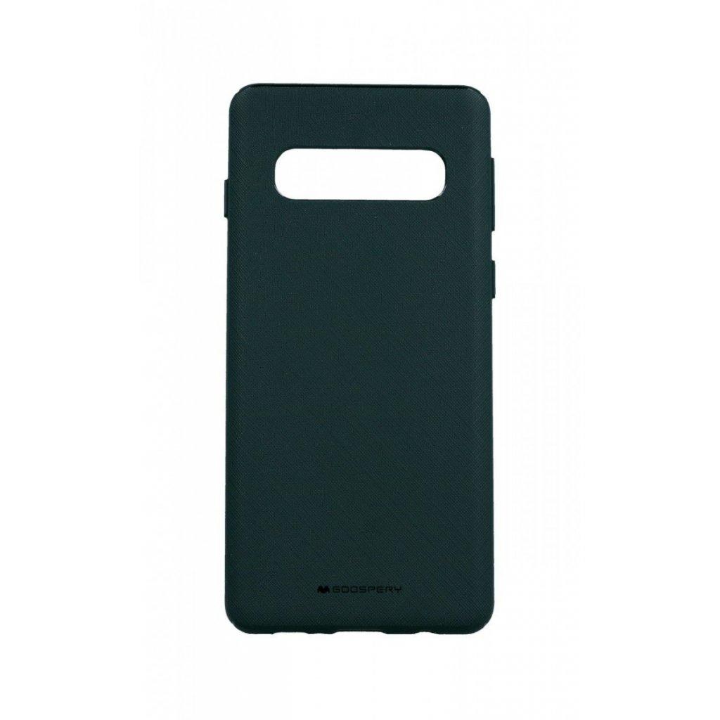 Zadný kryt Mercury Style Lux na Samsung S10 zelený