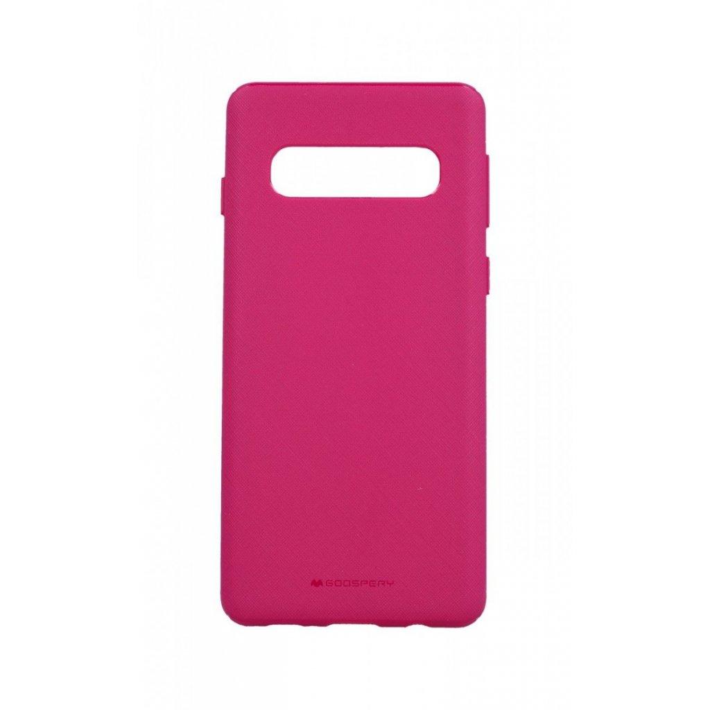 Zadný kryt Mercury Style Lux na Samsung S10 ružový
