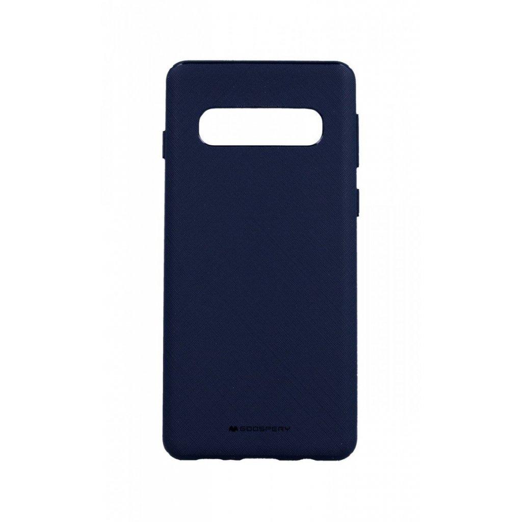 Zadný kryt Mercury Style Lux na Samsung S10 modrý tmavý