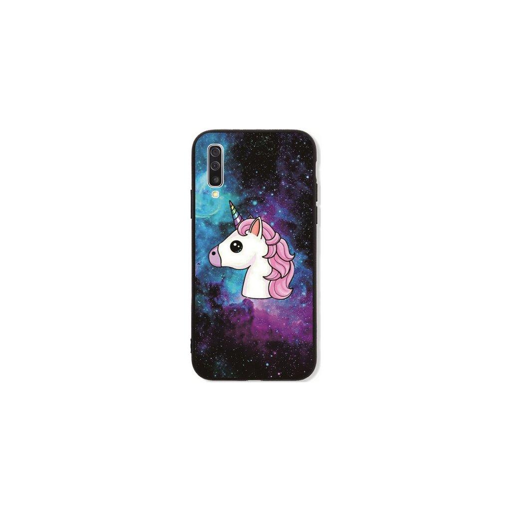 Zadný pevný kryt LUXURY na Samsung A50 Space Unicorn
