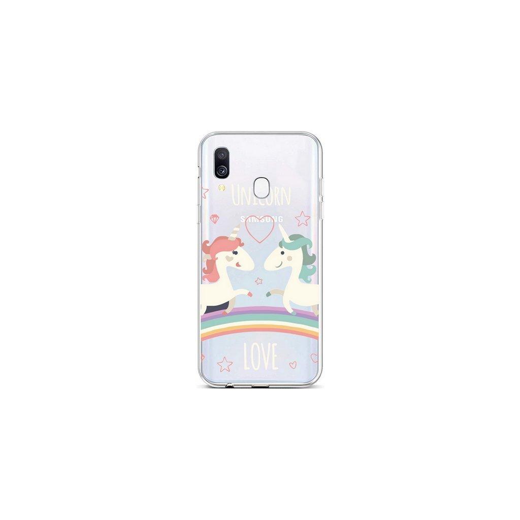 Zadný silikónový kryt na Samsung A40 Unicorn Love