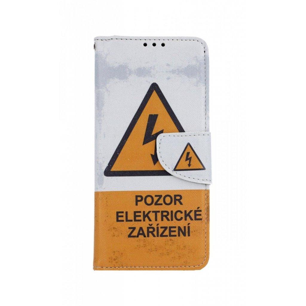 Flipové puzdro na Samsung J4 + Pozor elektrické zariadenie