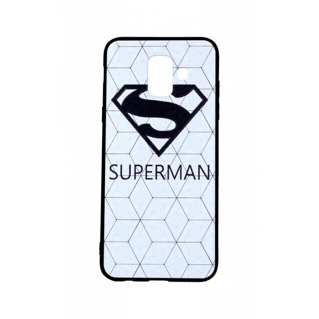Zadný 3D silikónový kryt na Samsung A6 Biely Superman