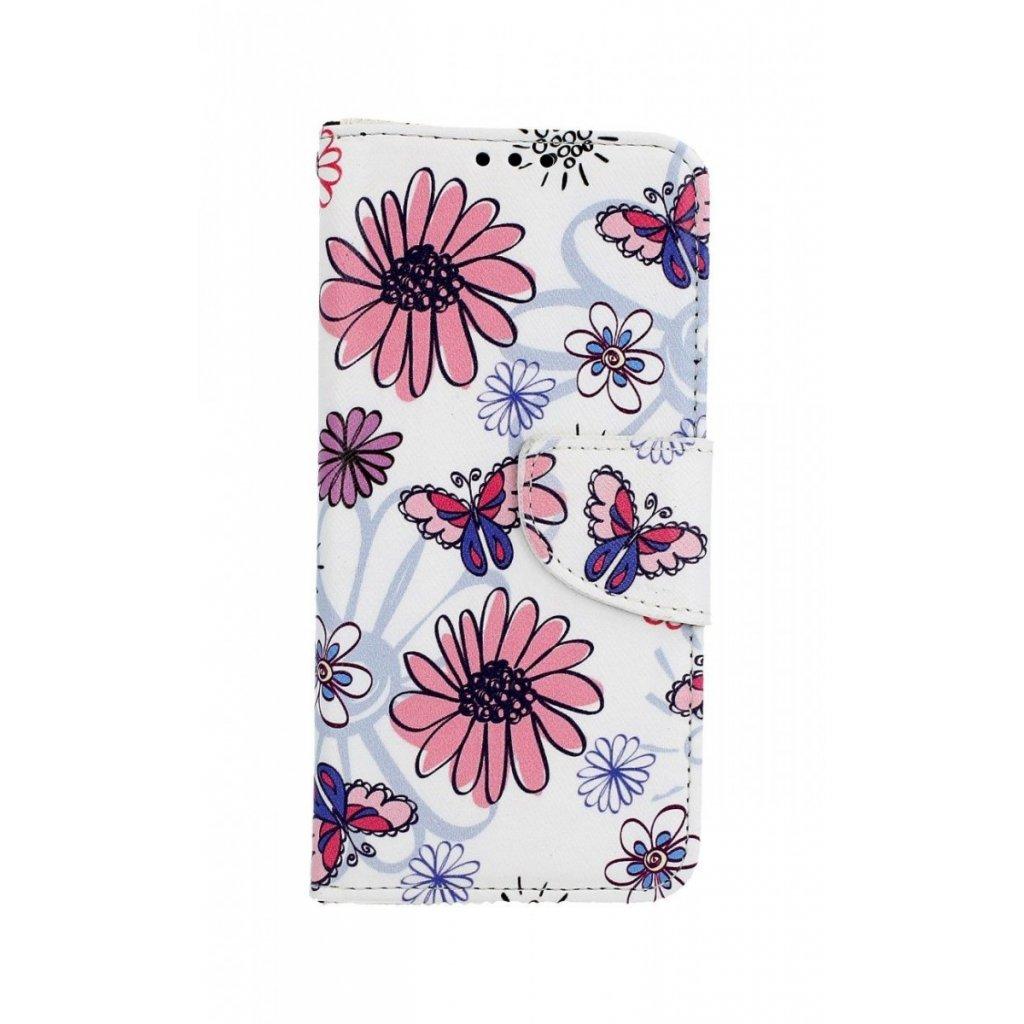 Flipové puzdro na Samsung A40 Flowers