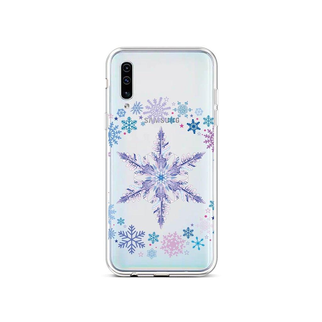 Zadný silikónový kryt na Samsung A50 Snowflake