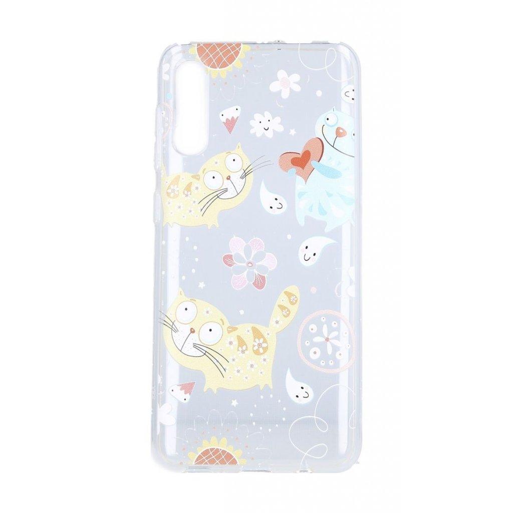 Zadný silikónový kryt na Samsung A50 Happy Cats