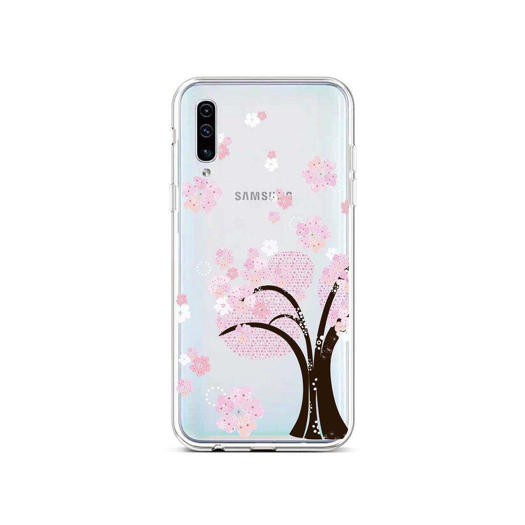 Zadný silikónový kryt na Samsung A50 Cherry Tree